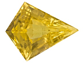 Yellow Danburite 14.47x14.34mm Fan Shape Fancy Cut 7.72ct
