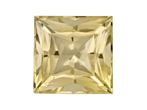 Yellow Danburite 11mm Square Princess Cut 6.41ct