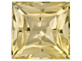 Yellow Danburite 11mm Square Princess Cut 6.41ct