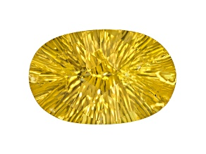 Yellow Danburite 17x11mm Oval Quantum Cut 7.98ct