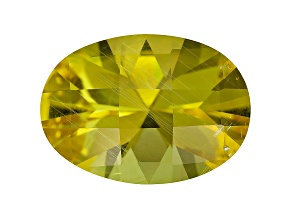 Yellow Danburite 18x13mm Oval Checkerboard Cut 10.48ct