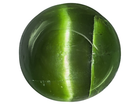 Chrome Diopside Cats Eye Round Cabochon 1.50ct