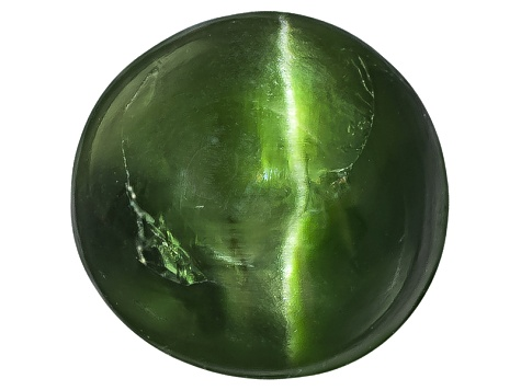 Chrome Diopside Cats Eye Round Cabochon 2.50ct