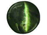 Chrome Diopside Cats Eye Round Cabochon 1.25ct