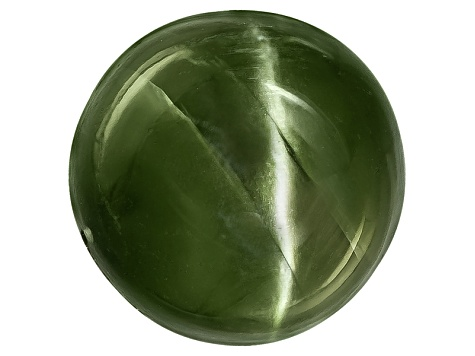 Chrome Diopside Cats Eye Round Cabochon 6.00ct