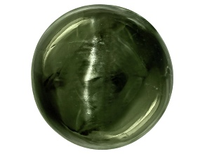 Chrome Diopside Cats Eye Round Cabochon 8.00ct