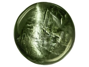 Chrome Diopside Cats Eye Round Cabochon 9.00ct