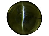 Chrome Diopside Cats Eye Round Cabochon .50ct