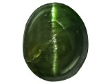 Chrome Diopside Cats Eye Oval Cabochon 1.00ct