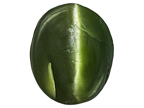 Chrome Diopside Cats Eye Oval Cabochon 1.25ct