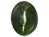 Chrome Diopside Cats Eye Oval Cabochon 1.50ct