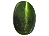 Chrome Diopside Cats Eye Oval Cabochon 2.00ct