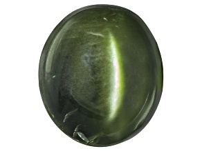 Chrome Diopside Cats Eye Oval Cabochon 2.50ct