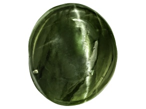 Chrome Diopside Cats Eye Oval Cabochon 6.00ct