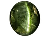 Chrome Diopside Cats Eye Oval Cabochon 7.00ct