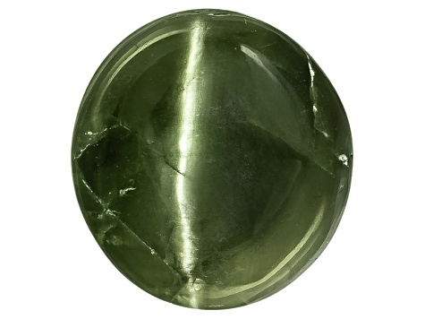 Chrome Diopside Cats Eye Oval Cabochon 5.00ct