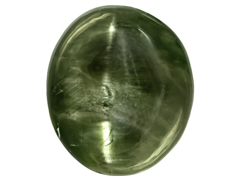Chrome Diopside Cats Eye Oval Cabochon 9.00ct