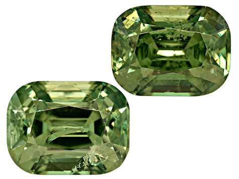 Garnet Demantoid 8x6mm Rectangular Cushion Matched Pair 4.09ctw
