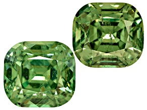 Garnet Demantoid 6.5x6mm Rectangular Cushion Matched Pair 2.77ctw