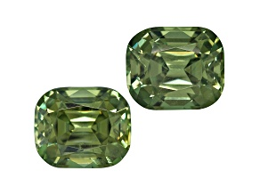 Demantoid Garnet 5.5x4.5mm Rectangular Cushion Matched Pair 1.58ctw
