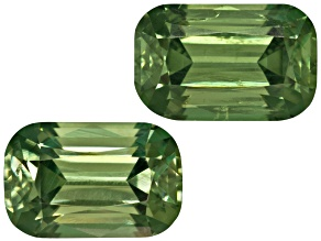 Garnet Demantoid 6.5x4mm Rectangular Cushion Matched Pair 1.52ctw