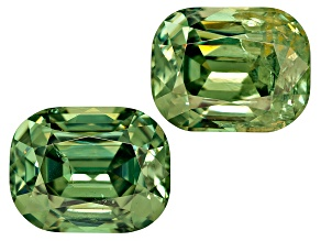 Garnet Demantoid 7.5x6mm Rectangular Cushion Matched Pair 3.98ctw