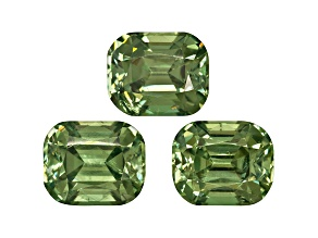 Garnet Demantoid 5.75x4.75mm Rectangular Cushion Matched Pair 2.58ctw