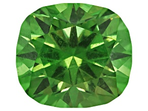 Demantoid Garnet With Horsetail 6.29x5.68mm Rectangular Cushion 1.21ct