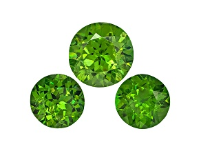 Garnet Demantoid Round Matched Set 1.02ctw