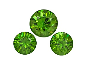 Garnet Demantoid Round Matched Set .77ctw