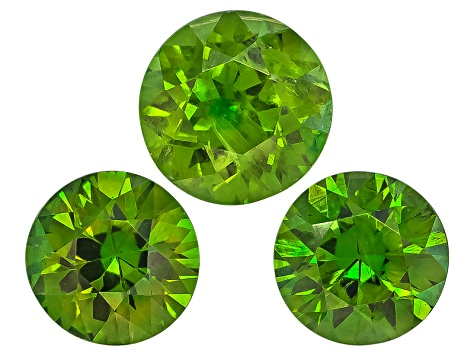Garnet Demantoid Round Matched Set .92ctw