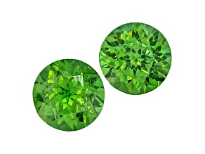 Garnet Demantoid 4.5mm Round Matched Set .81ctw