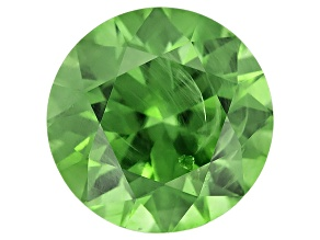 Garnet Demantoid With Horsetail inclusion 6.5mm Round 1.43ct