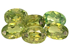 Garnet Demantoid 6x4mm Oval Set 3.68ctw