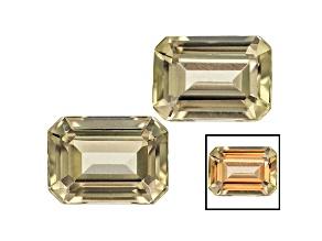Diaspore Color Change 7x5mm Emerald Cut Matched Pair 2.00ctw