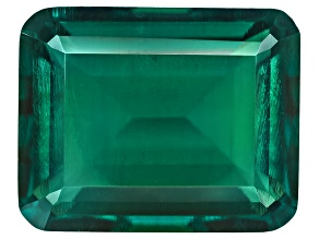 Emerald Hydrothermal Lab Created 10x8mm Emerald Cut 3.40ct