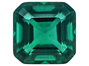 Emerald Hydrothermal Lab Created 8x8mm Square Emerald Cut 2.50ct