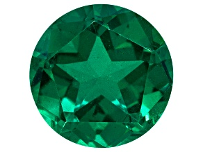 Quartz Emerald Simulant Triplet 14mm Round Star Cut 9.00ct