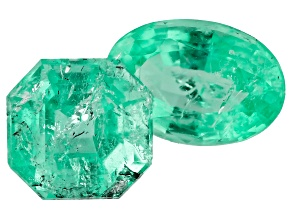 Colombian Emerald 1.29ct Set Of 2: Varies mm Varies Shape