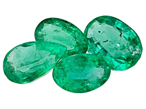 Zambian Emerald 2.17ct Set Of 4: Varies mm Varies Shape