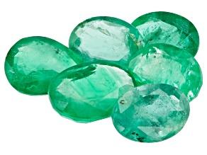 Zambian Emerald 7.06ct 6 Piece Lot Varies mm Varies Shape