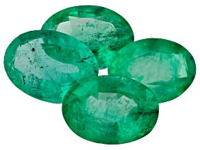 Zambian Emerald 2.78ct Set Of 4: 7x5mm Oval