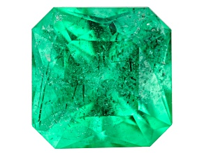 Emerald Ethiopia 8x8mm square octagonal princess cut 2.38ct