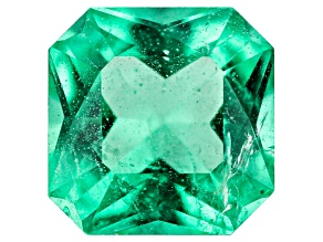 Emerald Ethiopian 6.4mm Square Octagonal Princess Cut 0.96ct
