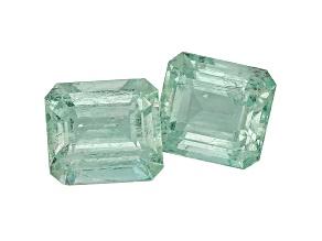 Green Beryl 15x13.5mm Emerald Cut Matched Pair 23.59ctw