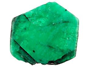 Emerald Free Form Slice 71.94ct