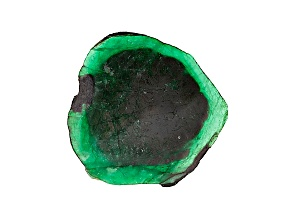 Emerald 340x293mm Free Form Slice 216.94ct