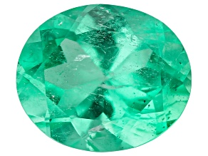 Colombian Emerald 8x6.75mm Oval Cut 1.23ct