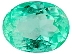 Colombian Emerald 8.6x6.6mm Oval Cut 1.76ct