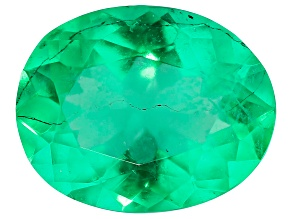 Colombian Emerald 6.4x5.15mm Oval Cut 0.51ct